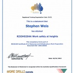 Work Safely at Heights Certificate